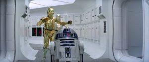 C3PO y R2D2 en la Tantive IV