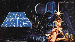 Cartel original La Guerra de las Galaxias