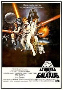 Cartel original de La Guerra de las Galaxias