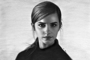 Retrato de Emma Watson, de Stefan Pabst