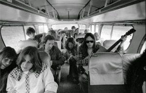 Cameron Crowe en el autobús de Neil Young