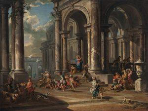 La expulsión de los mercaderes del templo, de Giovanni Paolo Panini