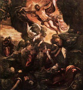 La resurrección de Cristo, de Tintoretto