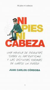 Portada de Ni pies ni cabeza, de Juan Carlos Córdoba