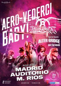 Cartel del concierto de Rivas Vaciamadrid del Aero-Vederci, Baby! de Aerosmith