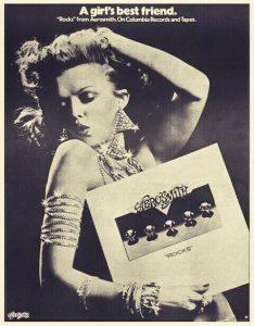 """Cartel promocional del """"Rocks"""" de Aerosmith."""