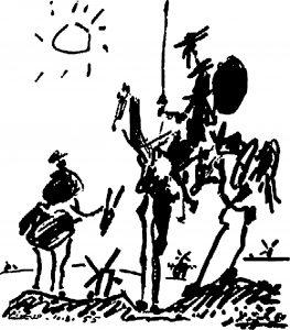 El Quijote, de Pablo Ruíz Picasso.