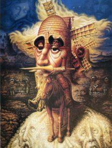 El Quijote, de Salvador Dalí.