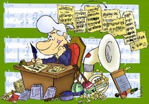 Mastropiero escribiendo Pepper Clemens, ilustración de Leandro Devecchi