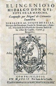 Portada de El ingenioso hidalgo don Quijote de la Mancha.