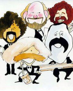 Quinteto, caricatura de Les Luthiers de Ortuño (Madrid 1988)