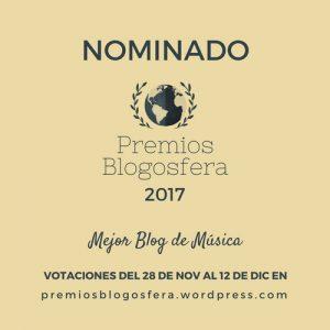 Artelaraña, nominado a Mejor Blog de Música en los Premios Blogosfera 2017
