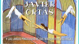 Javier Ortas y las largas pinceladas de sus imaginativas acuarelas
